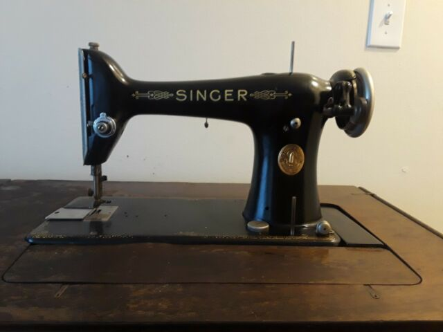 Vintage 1910 SINGER Treadle Sewing Machine With 6 Drawer Cabinet MADE In USA