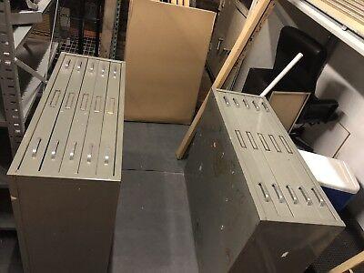 5 Drawer Blueprint File Cabinet 47 X 35 X 17.5