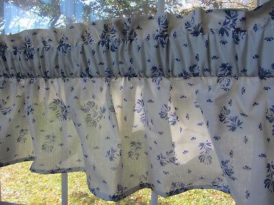 """pfaltzgraff Yorktowne 58"""" Valance 3 inch rod, blue motif, cotton blend, kitchen for sale  Woodstock"""