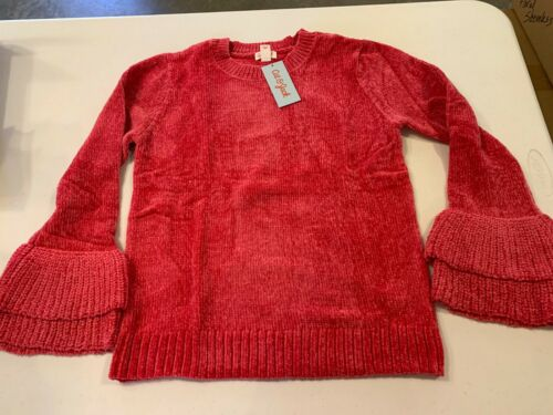 Cat & Jack Girls SUPER CUTE AND SOFT Sweater with bell sleeves XL 14/16