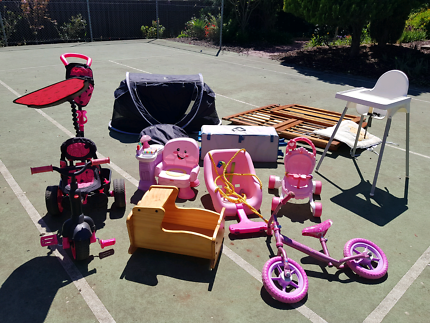 Baby/Toddler bundle including COT, BIKE, TRIKE, CHAIR, TOYS
