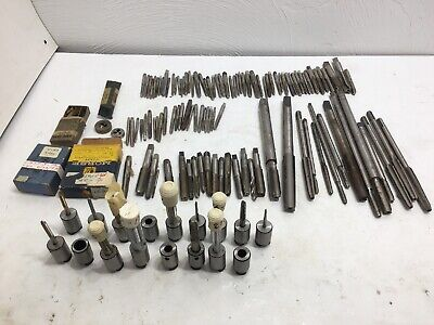 100 Machinist Tap And Die Bits Lot Plus 17 Tap Holders