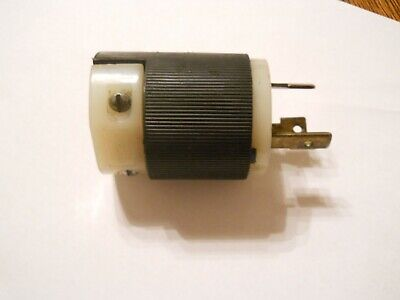 250 220 Volt Hubbell 30 Amp Twistlock Plug 3 Wire Nema L-6 Nice Used Plug.