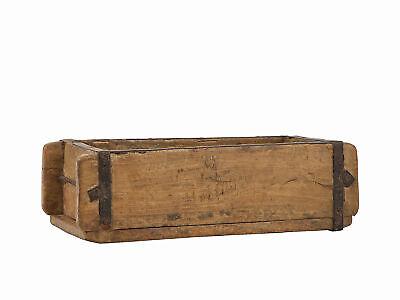 Holz Ziegelform Aufbewahrungsbox Kasten Holzkiste Unikat Vintage ca. 32x15cm