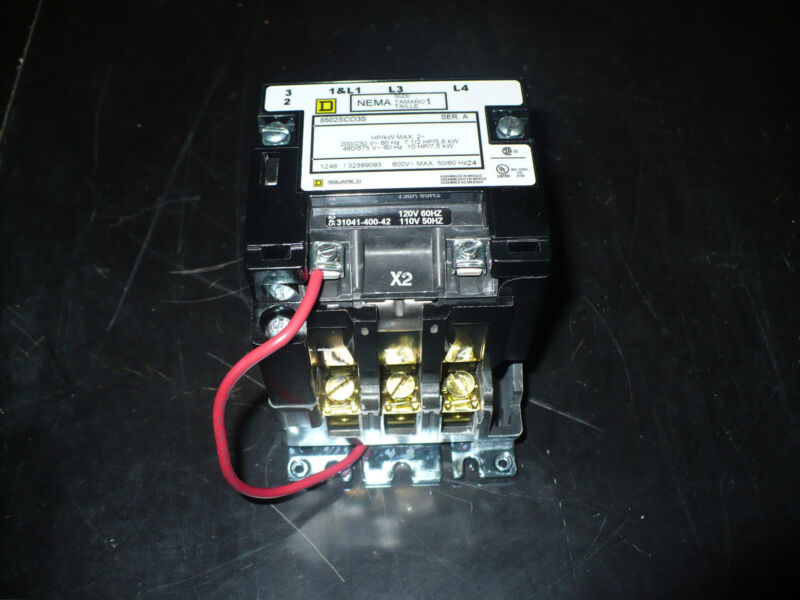 Square D Contactor, 8502SCO3S, Same as 8502SCO2V02S, Size 1, New in box
