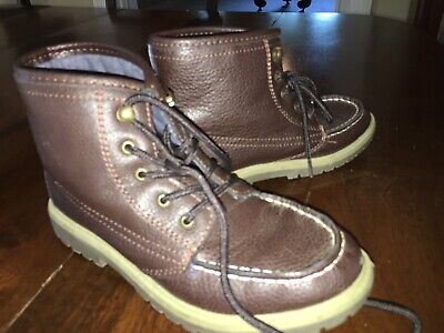 "Boys Youth Kids Nautica ""Cliffview"" Dark Brown Chukka Boots Size 3 EUC!"