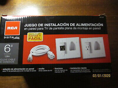 RCA DH150F IN-WALL POWER INSTALL KIT FOR WALL MOUNT FLAT SCREEN