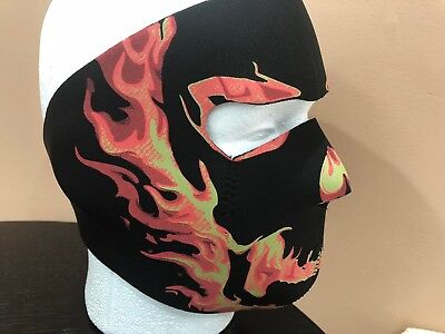 NEW NEOPRENE FULL FACE MASK ALL OUTDOOR ACTIVITIES MOTORCYCLING SKI HALLOWEEN](All Black Face Halloween)