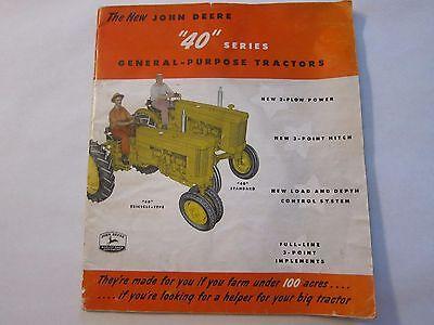 John Deere 40 General Purpose Tractor Dealer Brochure 1952 Lots More Listed