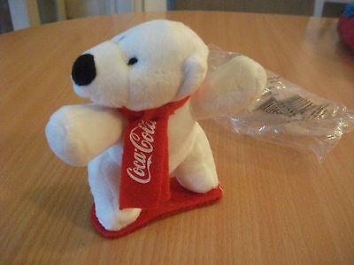 Coca Cola Werbe Teddy /  Bär /  Polarbär für Sammler