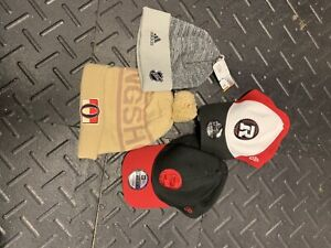 Two winter hats /Two Red Blacks caps