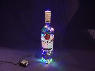Baccardi - Flaschen Lampe mit 80 LEDs Warmweiß UND Multicolor UMSCHALTBAR ()