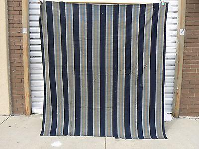 400 Futon (JT - 400 Vintage Japanese Striped Indigo Cotton Boro Futon Cover Textile Cloth)