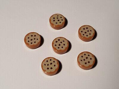 C01 LEGO® 6 x 98138pb014 Rund Fliese 1 x 1 Keks bedruckt 6055384 Cookie