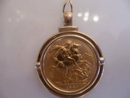 Sovereign gold coins gumtree australia free local classifieds 9ct gold frame set with 22ct full gold sovereign pendant aloadofball Images