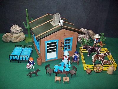 Playmobil Kleines Western-Farmhaus mit viel Zubehör, ohne OVP!