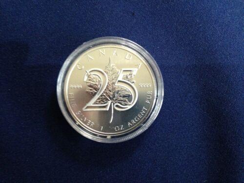2013 Canada $5.00 25th Anniversary Maple Leaf BU One Ounce .9999  E6111