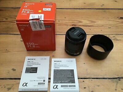 Sony E 50 mm F/1.8 E OSS for Sony E Mount - Black - Superb condition.
