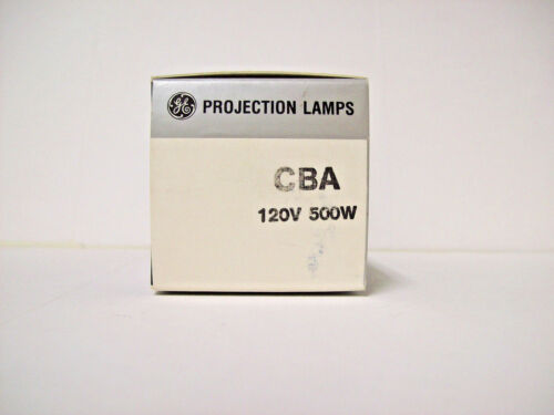 CBA Projector Projection Lamp Bulb 500W 120V GE *READ* *AVG 50-HOUR LAMP*
