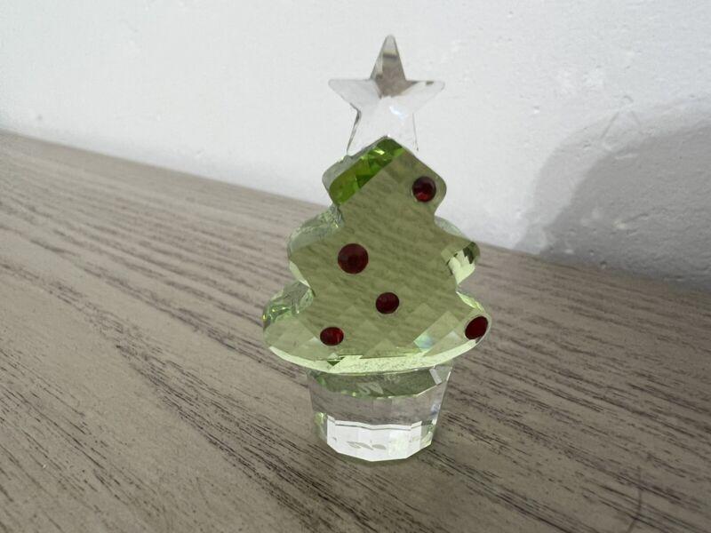 swarovski christmas tree figurine