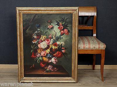 ÖL GEMÄLDE ANTIK PRUNK STILLLEBEN IM ALTMEISTER STIL 93x73cm old oil painting