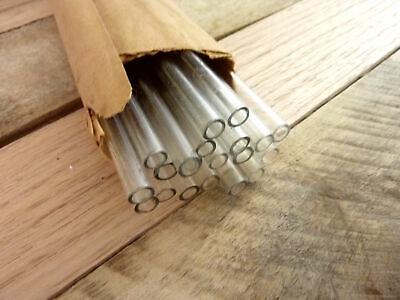 Vintage Glass Rods 20 Pieces 7mm X 16 Chemistry Lab Glassware Sticks Tubes