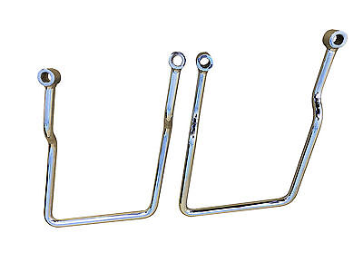 Pair of Chrome Saddlebag Supports - Kawasaki Vulcan 750 Models