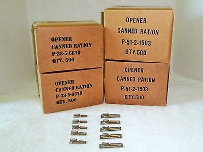5  P 38    5  P 51 Can Openers Us Military Issue Authentic Ww2 Vietnam War Era