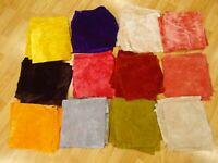 CHARCOAL BLACK Vintage LONG PILE Miniature Mini Bear Velvet Rayon Fur Fabric 9X9