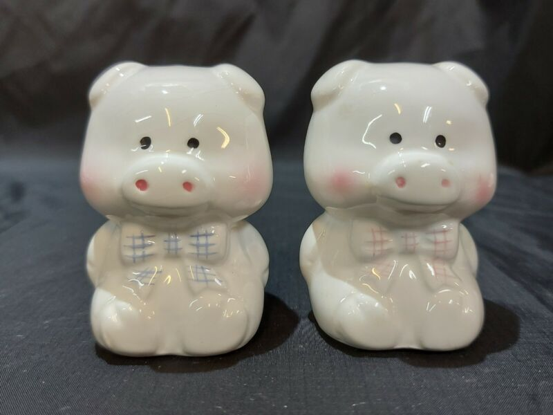 Vintage Collection Salt and Pepper Shakers Cute Baby Pigs