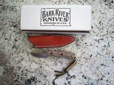 BARK RIVER KNIVES~PSK EDC CRU-WEAR SANDSTONE BURLAP RED LINER NATURAL PINS~MIB