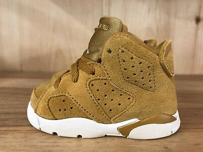 Jordan Retro 6 Wheat Golden Harvest Suede Td Baby Size 4 10C   384667 705