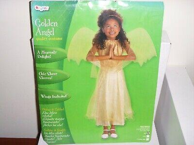 GOLDEN ANGEL Costume CHRISTMAS - HALLOWEEN COSTUME COSPLAY PLAY FAIRY Size - Golden Angel Kostüm