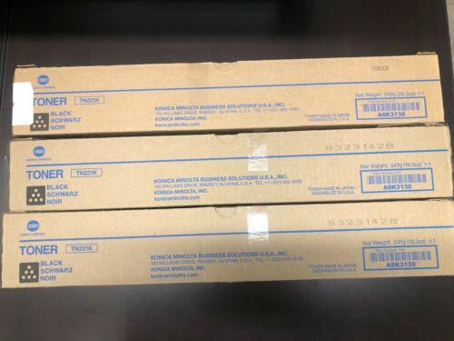 Konica Minolta Black Toner TN-221K Bizhub C227/C287
