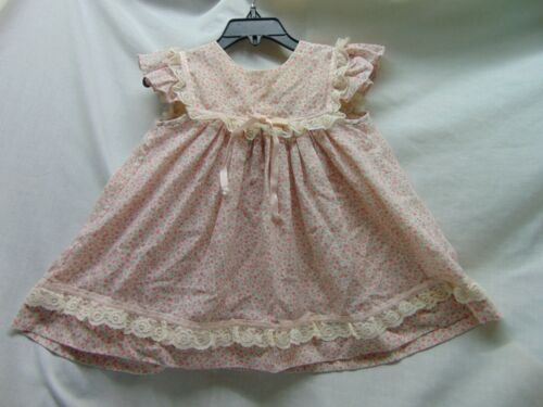**Vintage** Toddler Size 3T Pink Calico Pinafore Look Dress by Bryan