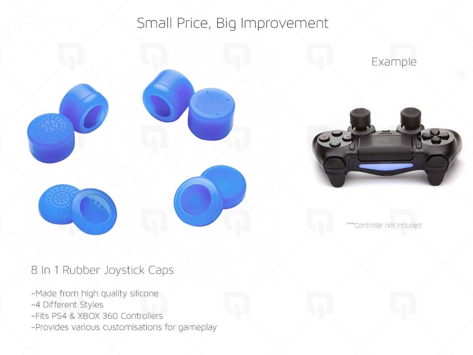Blue Joystick Caps 8pc Ps4 Controller 100 Silicone Extender Xbox