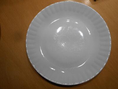 Suppenteller tiefer Teller schlicht weiß Wellenrand Porzellanteller flach 24 cm