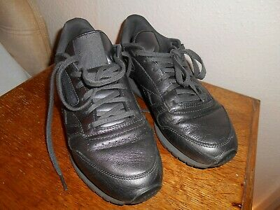 REEBOK FACE STOCKHOLM - pewter leather trainers size 7 very good free post