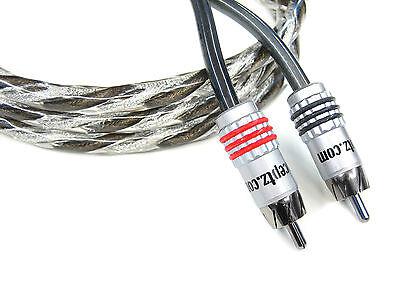 KnuKonceptz Karma Twisted w Braid Shield 2 Channel RCA Cable 1M 3'