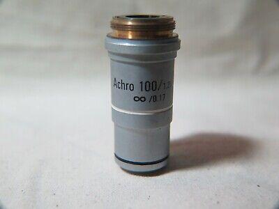 Leica Achro 1001.25 Oil Immersion Lens Microscope Objective 0.17 Sb