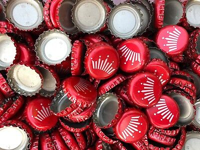 500 NO DENTS ((Red Budweiser Crown)) Beer Bottle Caps