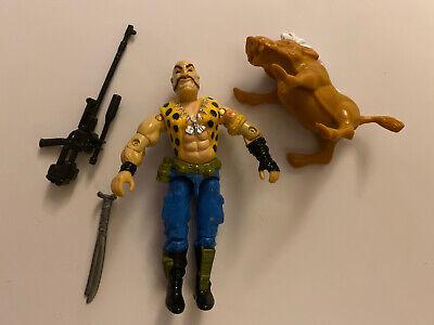 Gi Joe Vintage GNAWGAHYDE Loose Action Figure Hasbro W/ Boar and accessories