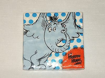 ~HORTON HEARS A WHO   Dr SEUSS ~ 8-DESSERT  NAPKINS    PARTY SUPPLIES  - Dr Who Party Supplies