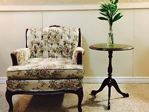 Antique chair and end table