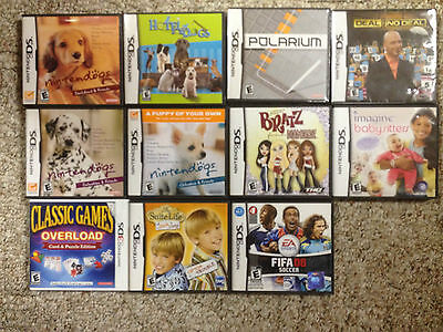 36 games NINTENDO DS nintendogs + hotel for dogs + polarium + mario party + MORE