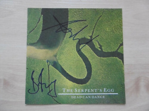 "Dead Can Dance Autogramme signed CD-Cover ""The Serpent´s Egg"""