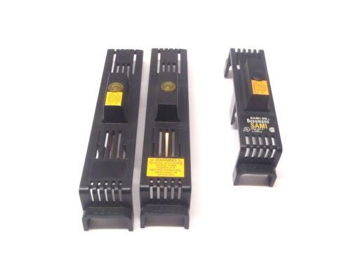 Lot of 2 Bussman SAMI-2 & 1 SAMI-6N Fuse Indicating Holder Covers