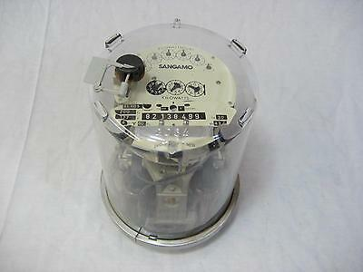 Sangamo Sl4ds Cl200 277v 4w 60hz Watt Hour Meter Fm 16s Beautiful Piece