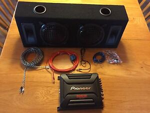 Sub and AMP with full wiring kit
