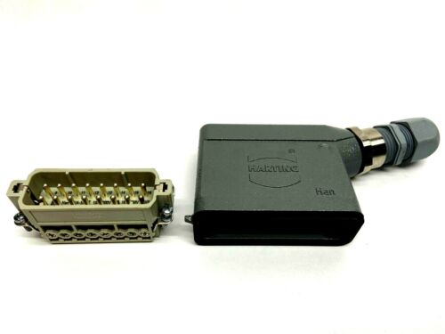 Harting Han 16A-M Male Power Connector w/ Angled Housing